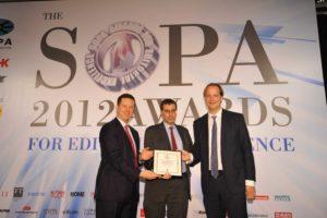 Daisuke Wakabayashi Journalist of the Year WSJA award accepted by Almar Latour, editor-in-chief,